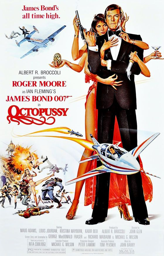 James Bond 007 Octopussy Poster