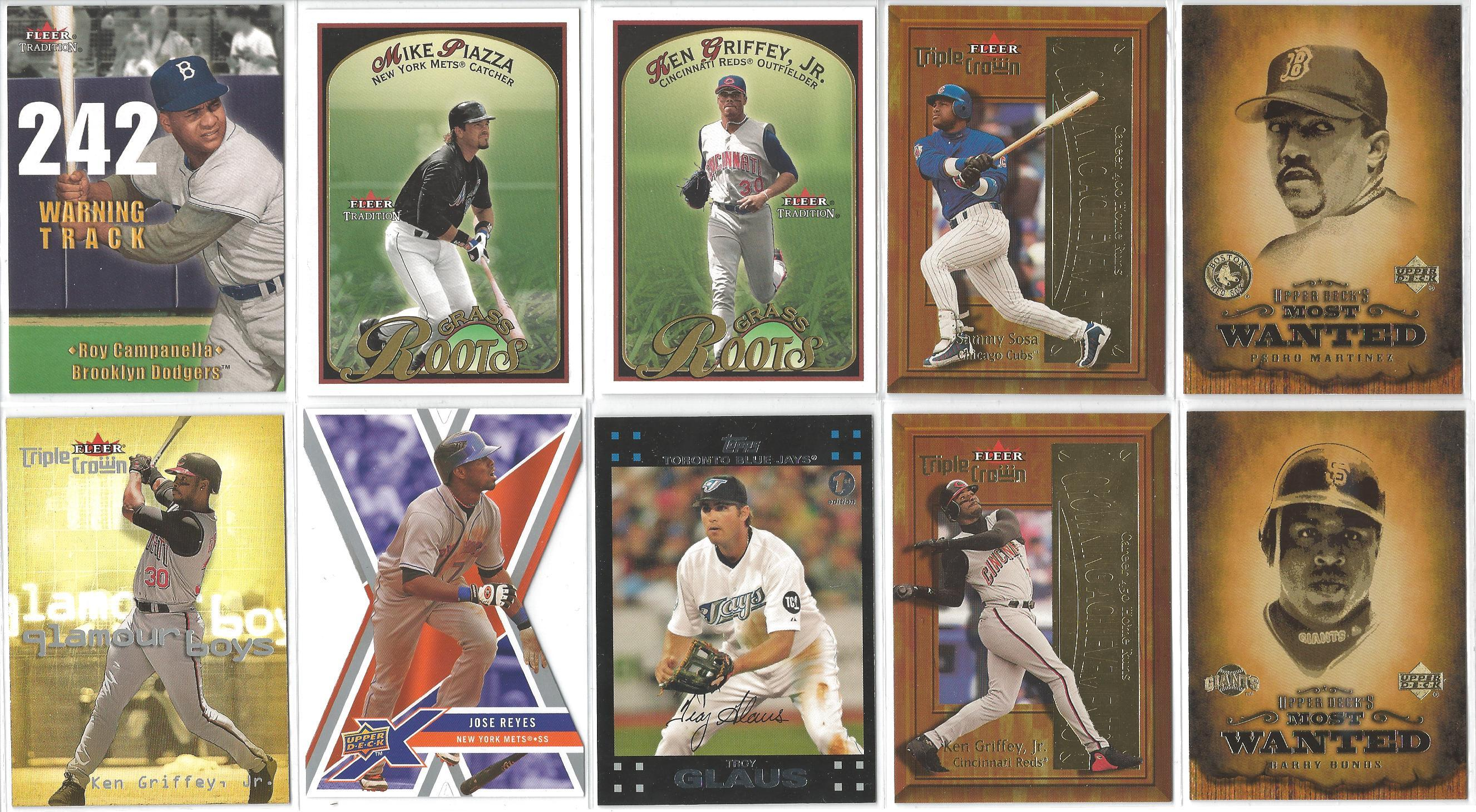 blowout cards forums view single post for autos jerseys 2001 fleer tradition warning track roy campanella 2001 fleer tradition grass roots mike piazza 2001 fleer tradition grass roots ken griffey jr