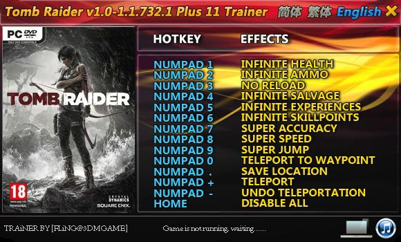 TOMB RAIDER 1.0.716.5-1.1.732.1 +11 TRAINER [FLING]